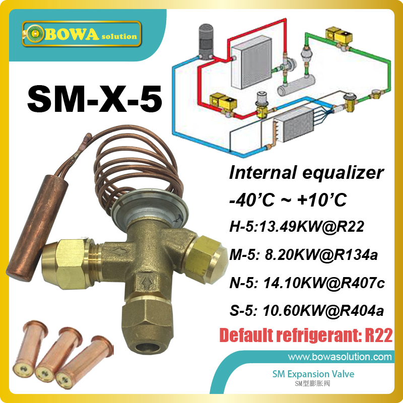4HP interchangeable TX standard superheat setting static superheat is 5K for valves without MOP and 4K for valves with MOP