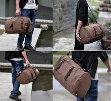 RUIPAI Men handbag Vintage classic Bag Canvas Backpack bucket Pack School Rucksack Multi functional Travel backpack Fashion