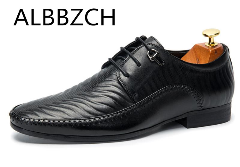 ALBBZCH Men Embossed Cow Leather Dress Shoes Fashion Sewing Design Casual Shoes Mens Business Leiusre Party Shoes Size 38-44ALBBZCH Men Embossed Cow Leather Dress Shoes Fashion Sewing Design Casual Shoes Mens Business Leiusre Party Shoes Size 38-44