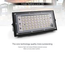 Houkiper Светодиодный прожектор Открытый прожектор 50 Вт промывная настенная лампа отражатель освещение IP65 Водонепроницаемый Сад 220 В SMD