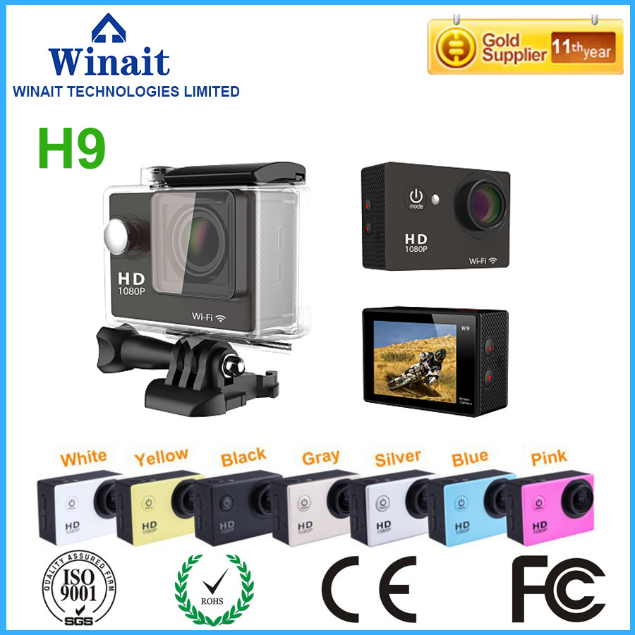 ФОТО super 4k 25 fps wifi action camera/waterproof digital video camera with 2.0'' TFT display wifi sport camera dhl free shipping