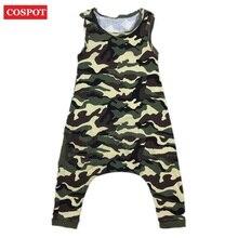 2016 New Baby Boys Girls Playsuits Boy Girl Summer Romper Kids Fashion Leopard Camouflage Jumpsuit Children Cotton Overalls D38