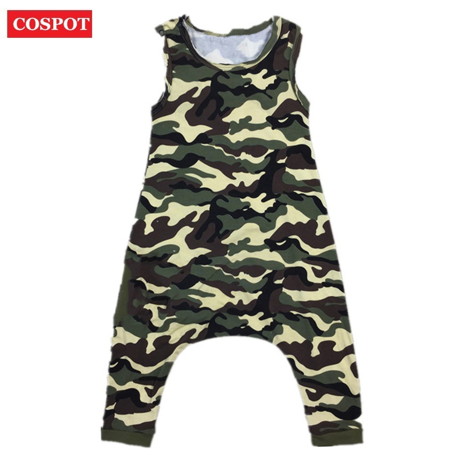 COSPOT Baby Boys Girls Harem Rompers Boy Girl Summer Drop Crotch Jumpsuit Kids Fashion Leopard Camouflage Jumper 2017 New 38