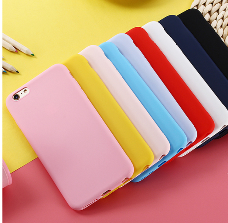 Candy Color phone Case For iphone X 7 8 XS XR XSMAX Black