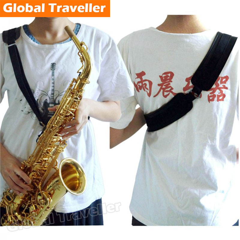 1 piece Liberation Neck Vertebra design Saxophone Shoulder Strap Harness for Alto(Eb)/ Tenor(Bb)/ Soprano(Bb) Saxophone use soprano saxophone bb curved sax high f with case the blue silver keycopper simulati copper simulation soprano saxophone