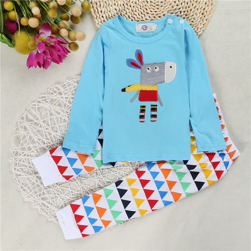 2018 Autumn fashion Baby Girl Long Sleeve Cartoon T shirt Long pants Newborns Baby boy Clothing