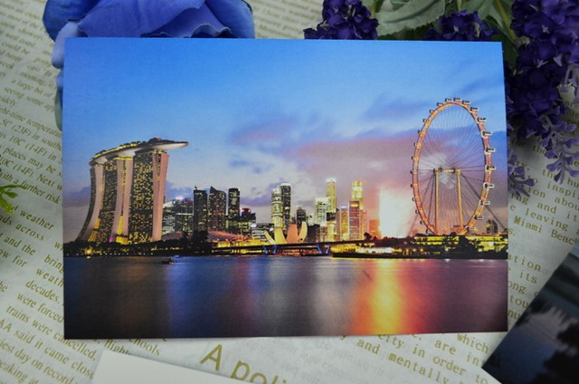 Singapore lion city travel postcard scenery greeting cards singapore lion city travel postcard scenery greeting cards collection art lenticular recycled recordable 1510cm m4hsunfo