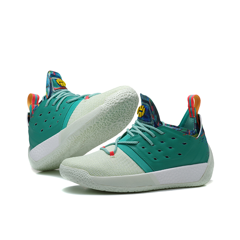 94bba2934e02 Mahadeng Basketball Shoes Boost Harden Vol.2 B28106 Vision Sports Sneakers  Green White Size 39-46
