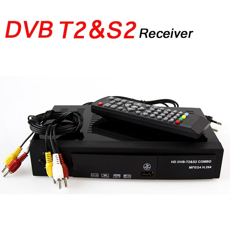 Satellite Receiver DVB T2 DVB S2 Digital DVB-T2 DVB-S2 Tuner Receivable MPEG4 TV Tuner Support Biss Key HD Full 1080P Receptor