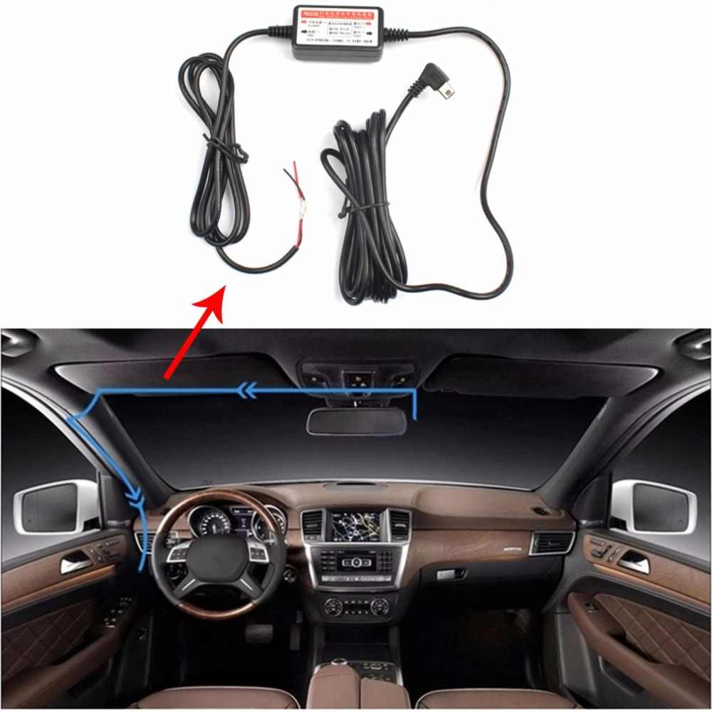 Power Box car Mini USB Car Camera Recorder DVR Power Supply Box for Vehicle Wire Cable Car Charger Kit 12V - 24V to 5V