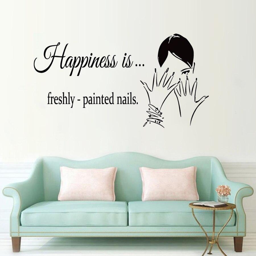 Nail Art Quote: Polish Nail Wall Decal Nails Quote Wall Window Sticker