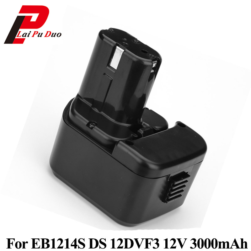 For Hitachi 12V 3.0Ah NI-MH EB1214S DS12DVF3 Batteries Rechargeable Power Tool Battery For EB1212S EB1214S EB1214L EB1220BL for hitachi 12v 3 0ah ni mh eb1214s ds12dvf3 batteries rechargeable power tool battery for eb1212s eb1214s eb1214l eb1220bl