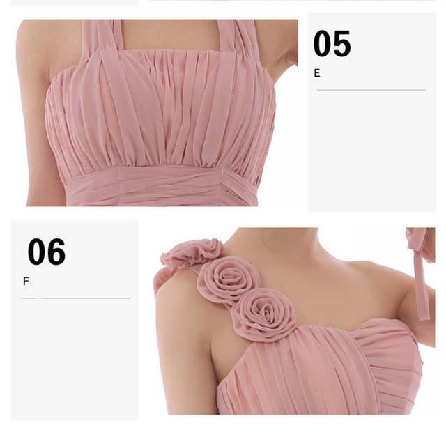 Dusty Rose Pink Dress Cheap Bridesmaid Dresses Long Chiffon Strapless  Beautiful Vestido De Festa Longo Party 8e6a9464a8ed