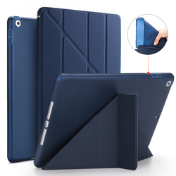 Smart Case For New iPad 9.7 2017 2018 Case PU Leather Silicone Soft Back Transformers Slim Smart Cover for iPad 2018 Case Coque