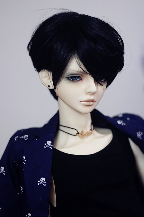 BJD Doll Wig for 1/4,1/3 (9-9.5''),Uncle SD DOD DZ LUTS Handsome Black Hair