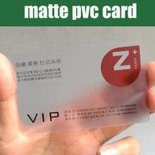"""סיטונאי 200 יחידות 85.5*54 מ""""מ הטוב ביותר מאט PVC חומר פלסטיק שקוף כרטיס ביקור ריק ברור פלסטיק כרטיסי גבוהה איכות"""