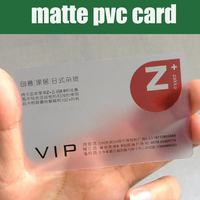 Wholesale 100pcs 85 5 54mm Best Matt PVC Material Plastic Transparent Business Card Blank Clear Plastic