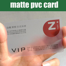 Großhandel 200 stücke 85,5*54mm Beste matt PVC Material Kunststoff transparent visitenkarte leere klar kunststoff karten hohe qualität
