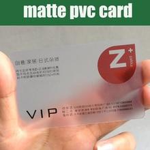 Toptan 200 pcs 85.5*54mm İyi mat PVC Malzeme Plastik şeffaf kartvizit boş şeffaf plastik kartları yüksek kalite