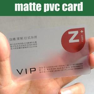 Image 1 - ¡Venta al por mayor! 200 Uds 85,5*54mm mejor Material de PVC mate tarjeta de visita transparente de plástico tarjetas de plástico transparente en blanco de alta calidad