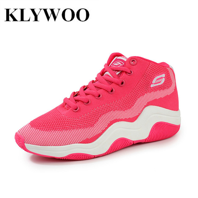 Height Increasing Women Casual Shoes Fly Weave New Spring Fashion Mesh Women Shoes Breathable Comfortable Women Red Shoes LaceUp