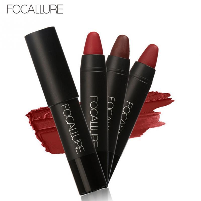 FOCALLURE Waterproof Long-lasting Red Velvet Nude Tattoo Matte True Brown Color Pencil Lipstick Crayon Lot Makeup Set