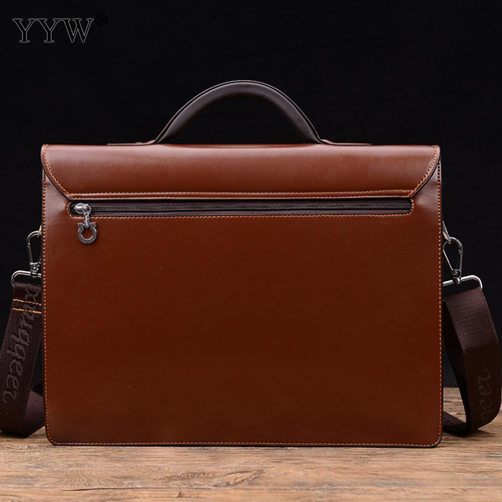 Business Male Bag Men's Executive Briefcase Black Portfolio Tote Bags for Men Synthetic Leather Handbag A Case for Documents
