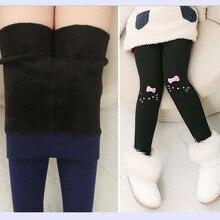 Filles pantalons leggings hiver des enfants plus de velours pantalons leggings enfants bébé épais coton réchauffement pantalons petites filles leggings