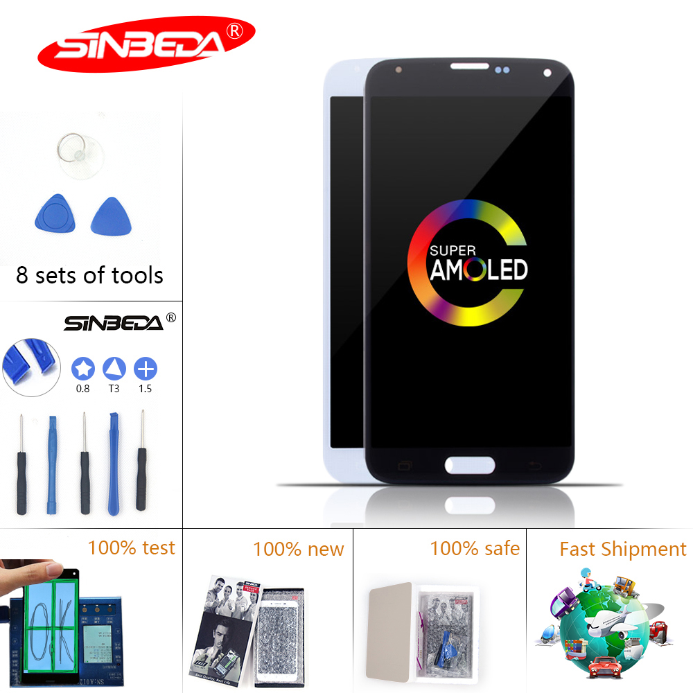 Sinbeda Burn Shadow For SAMSUNG GALAXY S5 LCD Display Touch Screen Digitizer i9600 <font><b>G900F</b></font> G900M G9001 LCD for Samsung S5 LCD image