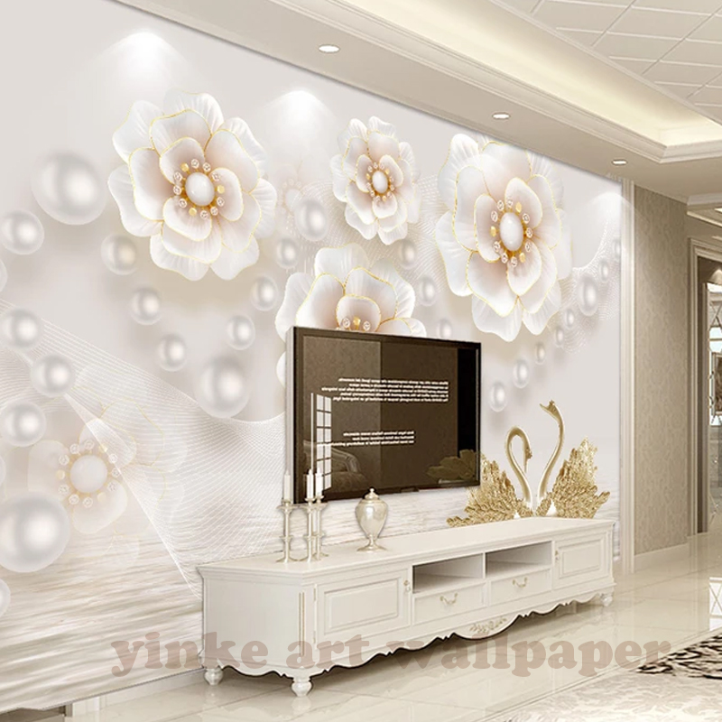 Custom Mural Wallpaper 3d Stereoscopic Relief Pearl: Aliexpress.com : Buy Custom Photo Wallpaper Europe 3D