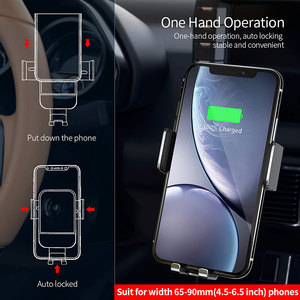 Image 2 - Essager Qi Car Wireless Charger for iPhone Samsung S20 Xiaomi mi 10W Induction Car Mount Fast Wireless Charging Car Phone Holder