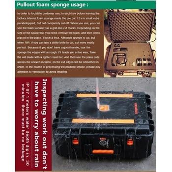 Caja de Seguridad de instrumento LAOA impermeable con cubierta de carrito de rueda, caja de herramientas a prueba de golpes