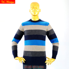 VA 2017 fall winter men's Christmas knitted turtleneck casual sweater coat cardigans oversize cashmere striped blue wine navy