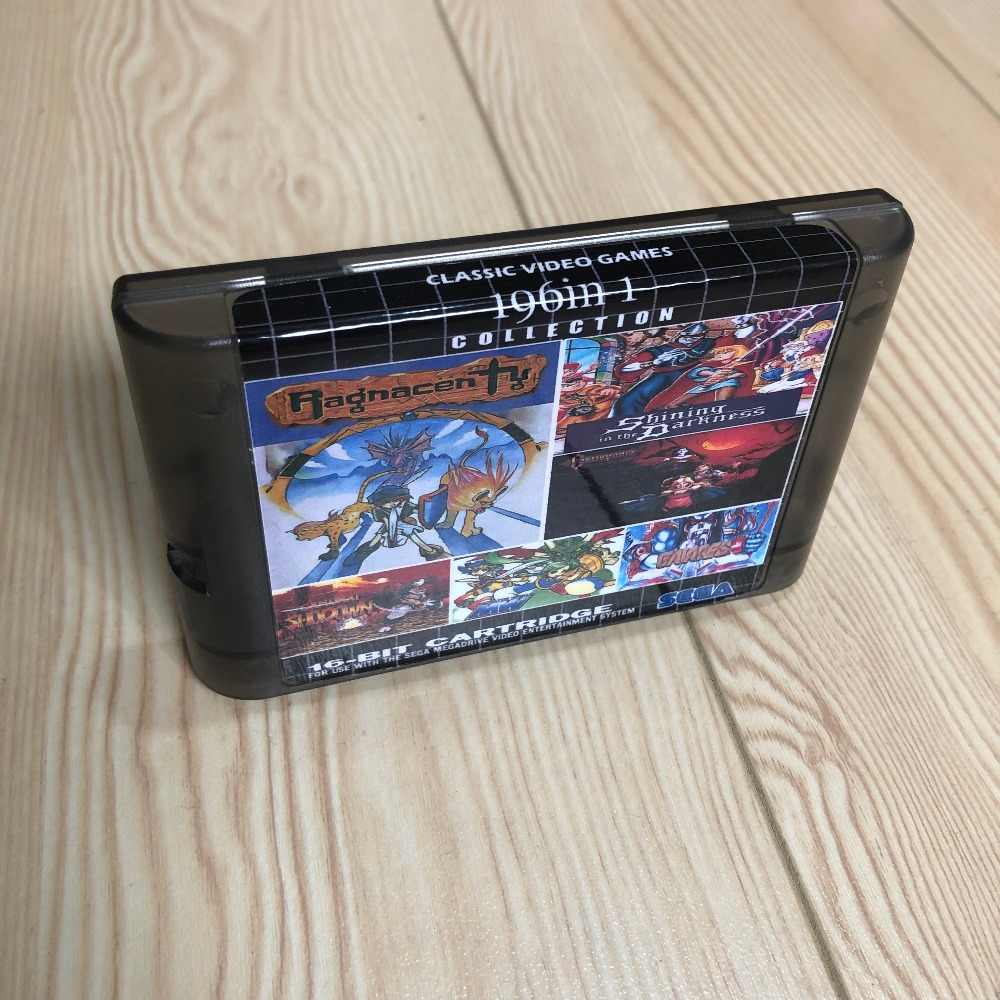Battery save ! 196 in 1 Hot Game Collection For SEGA GENESIS MegaDrive 16 bit Game Cartridge For PAL and NTSC Drop shipping