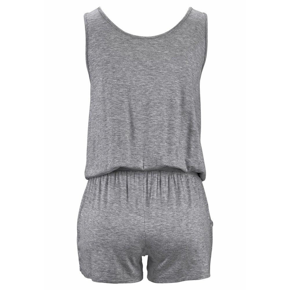 Clothing - Sleeveless Bandage Jumpsuits