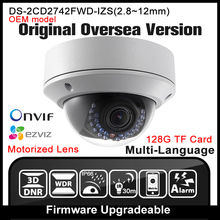 OEM DS-2CD2742FWD-IZS HIKVISION Original English Version IP Camera Varifocal 4MP POE P2P Onvif IPC Network camera CCTV HIK cam
