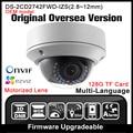 Oem ds-2cd2742fwd-izs hikvision original inglés versión $ number mp cámara de red p2p onvif poe ipc cámara ip varifocal cctv cam hik