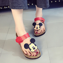 Fashion New Style Sale top summer women fashion Lovely  Michimi mouse slippers cute beach flat with pinch Flip flops