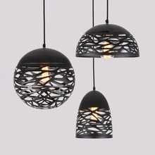 Modern Laser Cut Pendant Light Indoor Decorative Dining Room Lamp Black White Contemporary
