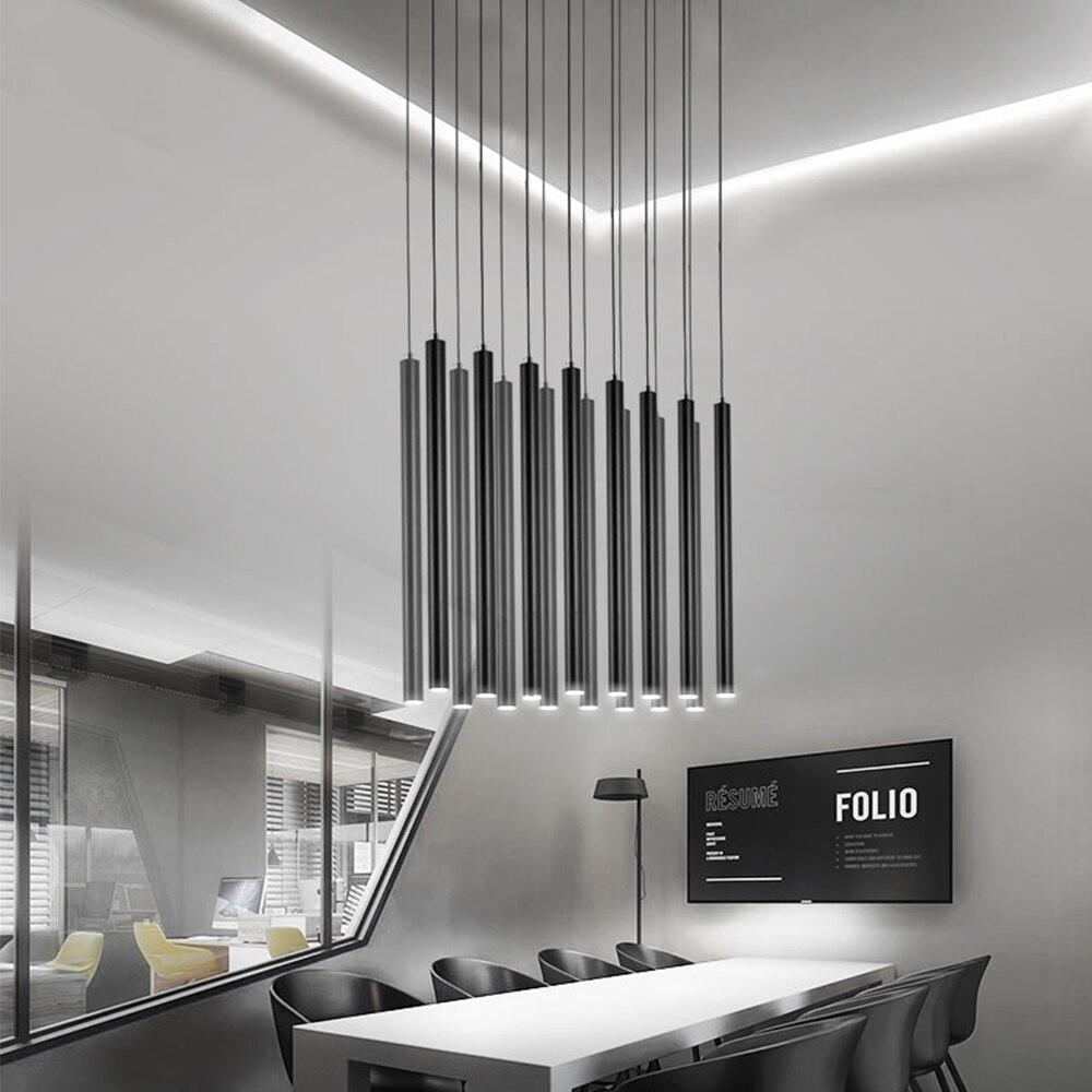 Alto 80 cm Led lámpara colgante de cocina moderno COB cilindro tubo ...