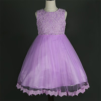 Chrzest niemowląt party dress baby girl lato koronki flower girl fioletowy suknia ślubna noworodka bébés oufits 1st urodziny chrzest
