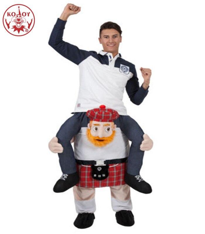 Drôle monter sur moi mascotte Cosplay porter sur les animaux pantalons habiller Halloween noël fête vêtements