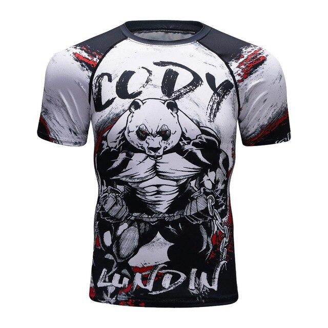 New 3d Prints T-shirts Mens Compression Shirt Base Layer Short Sleeve  Workout Fitness MMA Body Building Tops Rashguard T Shirt f049e60e8124