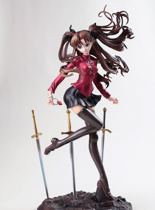 Free Shipping 10 Fate EXTRA Fate Stay Night UBW Tohsaka Rin Sword Formation Ver. Boxed PVC Action Figure Collection Model Doll