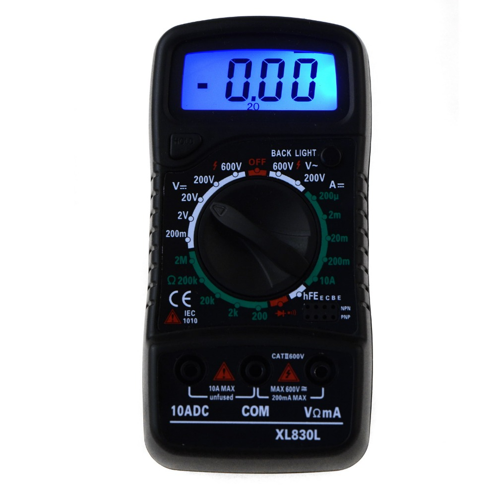 Digital LCD Multimeter Voltmeter Ammeter AC/DC/OHM Volt Tester Current Test SA724 P0.11