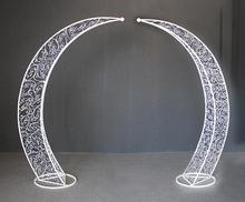 New wedding props Tieyi Arch Sen Department outdoor stage decoration Moon Flower Gate Happiness