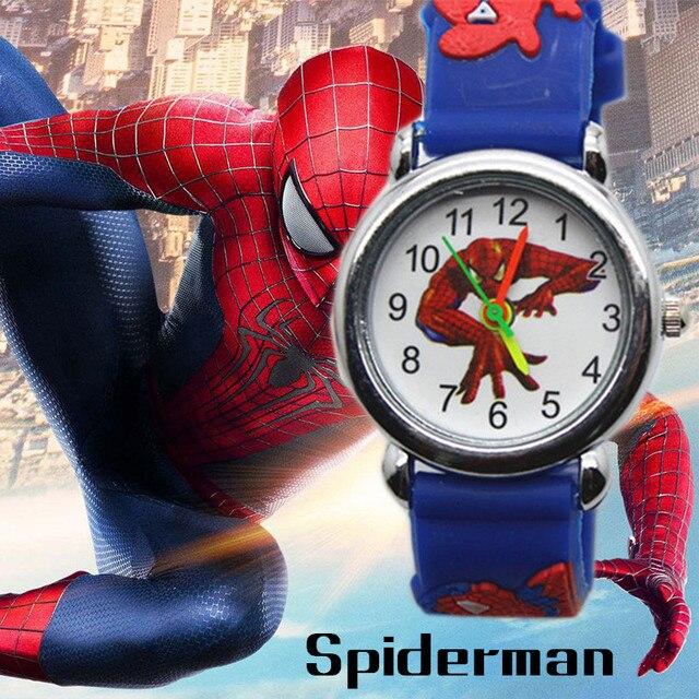 3D Spiderman Cartoon Children's Watch Boys Girls Kids Watches Superhero Spider M