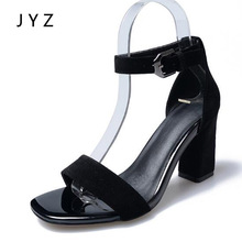 2018 New Womens Sandals Summer High Heels Peep Toe Shoes Lady Size 40 41 aa0623