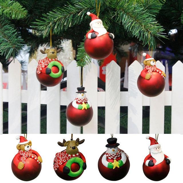 Xmas Deko Weihnachtsbaum.Us 3 18 10 Cm Weihnachtskugel Weihnachtsmann Weihnachten Szene Weihnachtsbaum Dekoration Baubles Xmas Party Hochzeit Hängende Verzierung 7a0625 In