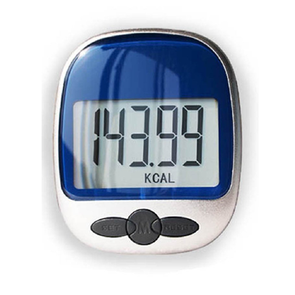 Waterproof LCD ExeCuter Step Pedometer Step Walking Calorie Counter, Blue